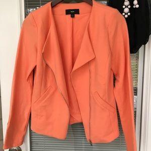 Coral Blazer w/ Asymmetric Zipper